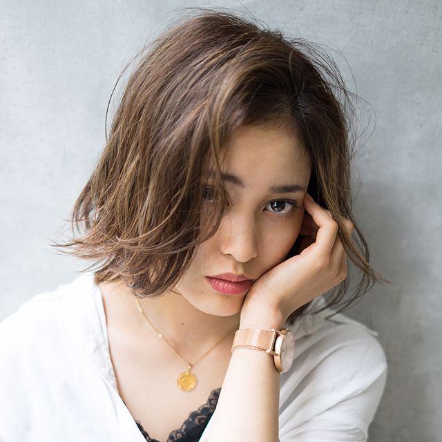 かきあげ前髪スタイル3