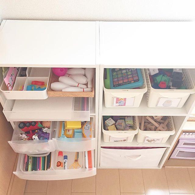 ベビー用品収納 カラーボックス