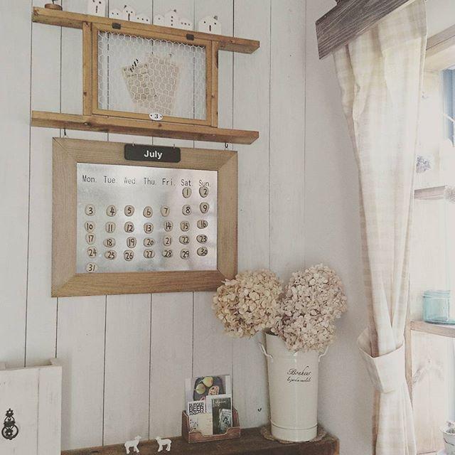 ■黒板に流木…DIY女子のカレンダーはひと味違う!3