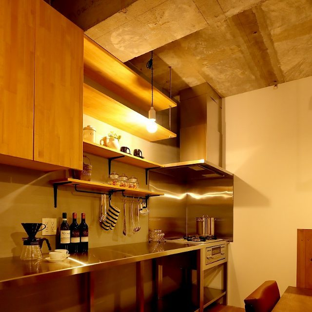ステンレスキッチン 木材7