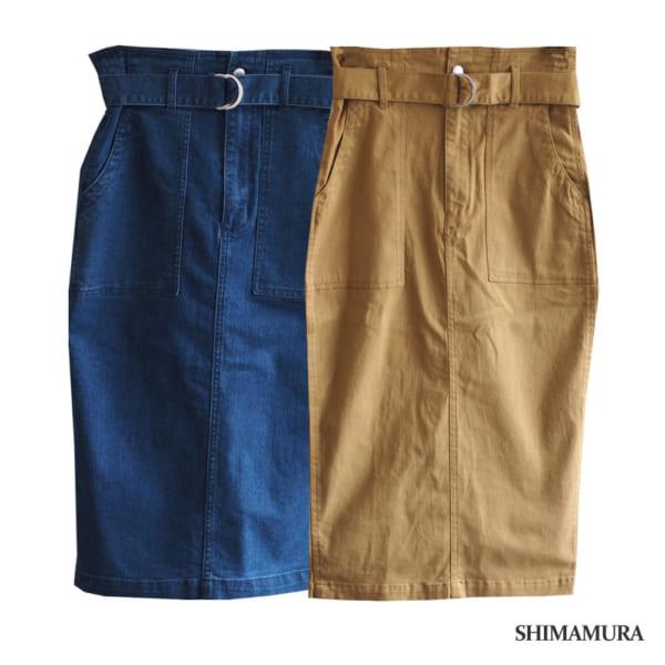 美シルエットのタイトスカート
