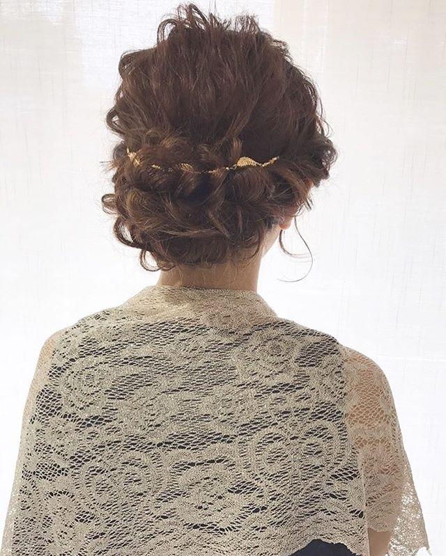 ミディアムヘア 編み込み アップ アレンジ15
