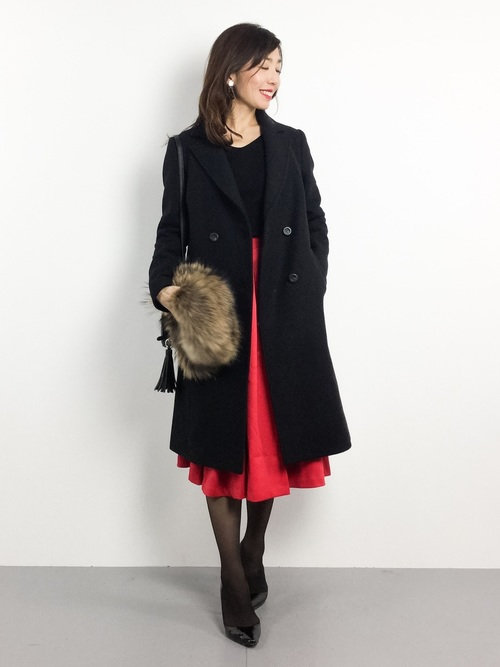 [MODE ROBE] カラーフレアスカート ロングスカート
