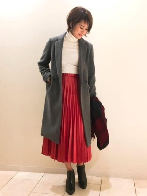 [Jines] 割繊グロッシープリーツスカート ■ 雑誌 STORY 1月号 P145 掲載 ■