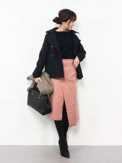 ピンク系スカート