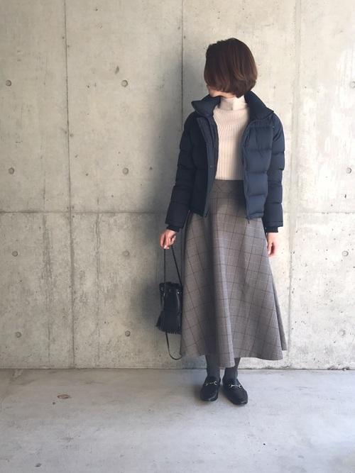 【ユニクロ・GU】のダウンジャケットを使った大人コーデ集4