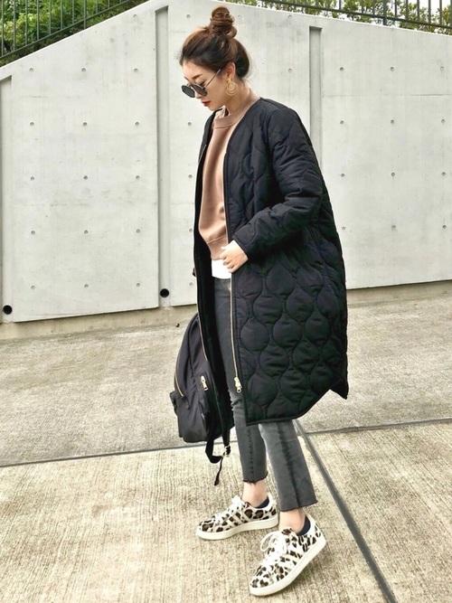 [STYLE BAR] 《SALE対象外》【STYLEBAR】ミリタリーノーカラーキルティングコクーンコート