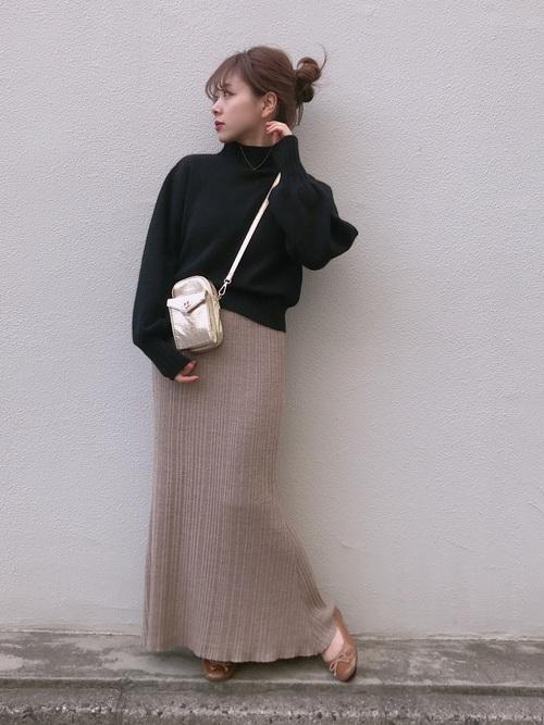 ラメプリーツロングスカート2