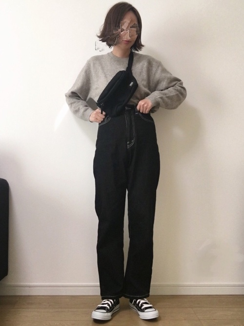 【GU・ユニクロ】のニットコーデ9
