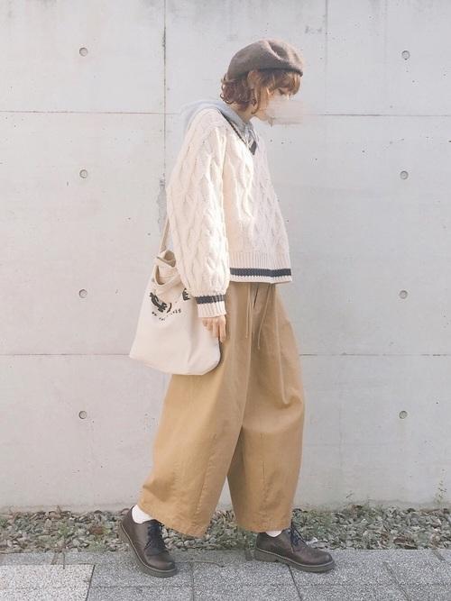 ニットでトラッドファッション7