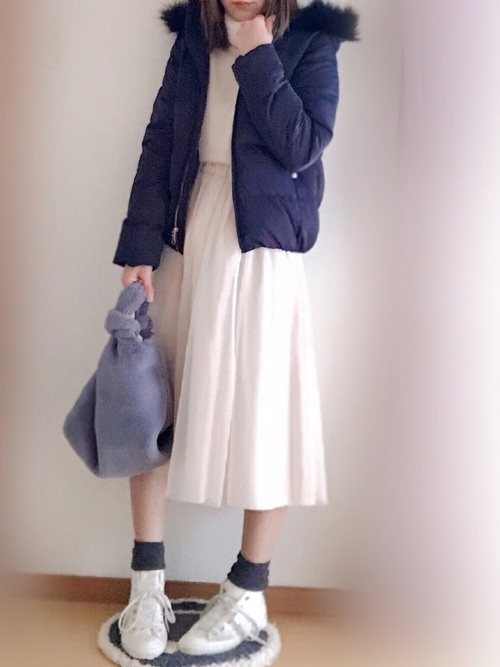【ユニクロ・GU】のダウンジャケットを使った大人コーデ集8