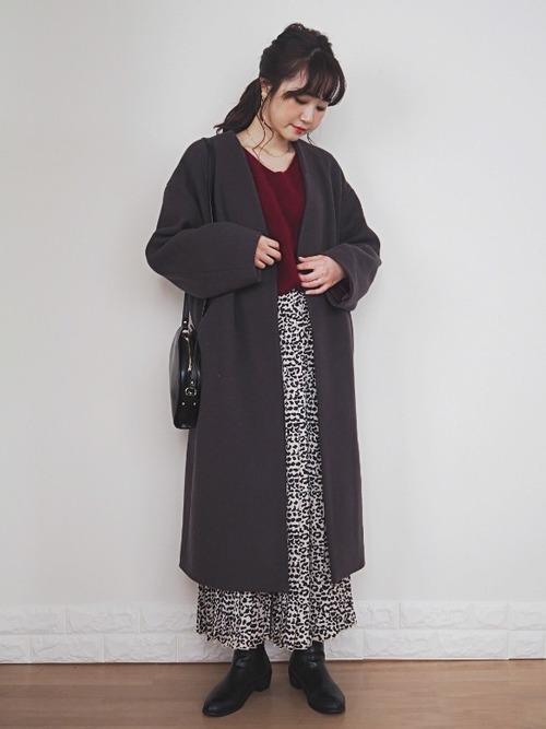 [PAGEBOY] 【レオパード柄登場!】シャイニーシアープリーツスカート