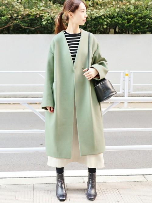 緑×ブラックコーデ9