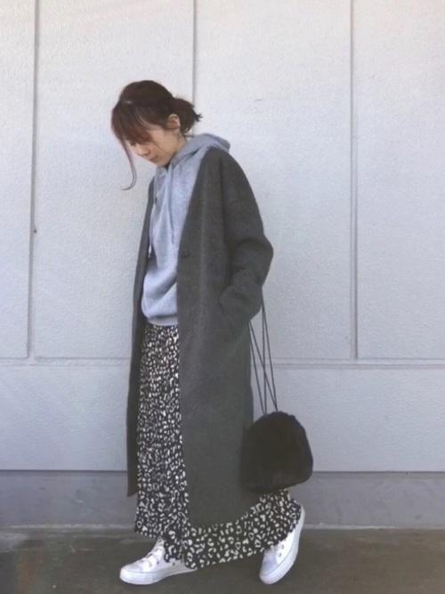[Green Parks] ・レオパードptケシプリーツロングスカート