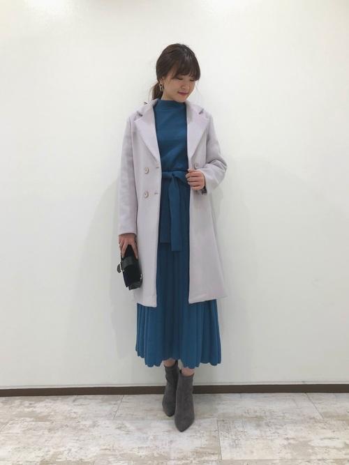 [Andemiu] プリーツニットワンピース817445