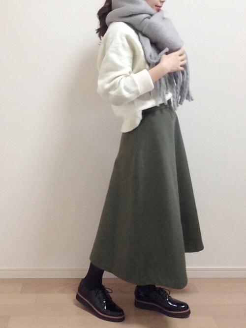 [URBAN RESEARCH] ダブルフェイスフレアスカート