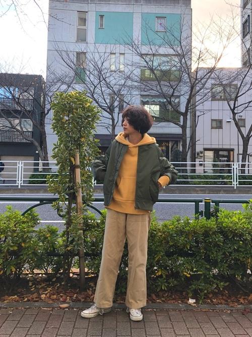 緑×イエローコーデ
