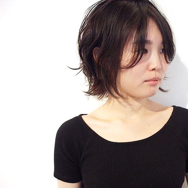 長め前髪スタイル