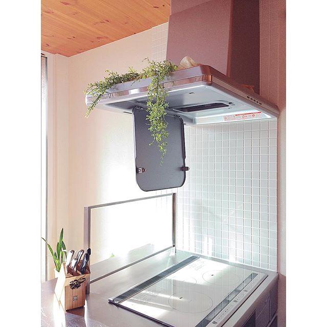 キッチン換気扇に小物を添えて簡単リメイク2