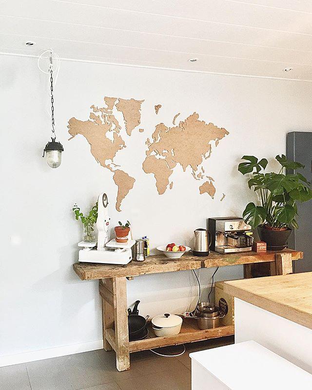オリジナルDIYディプレイ 世界地図