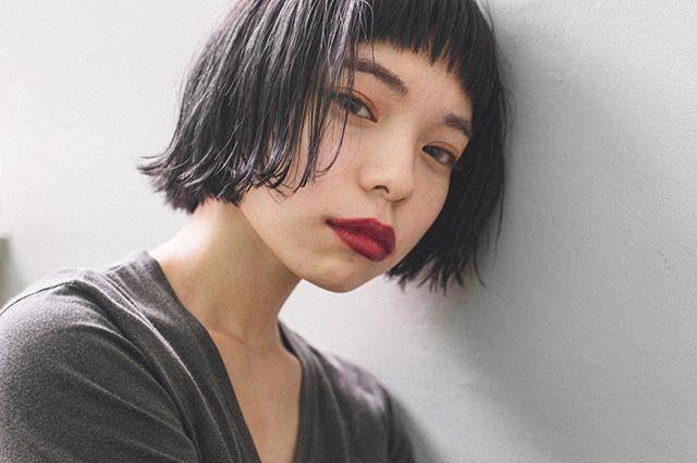 前髪 オン眉2