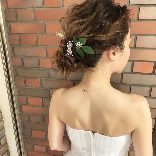 ドレスに合わせたいイマドキヘアアレンジ8