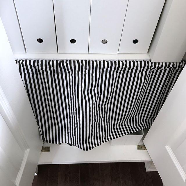 突っ張り棒で作るカーテン
