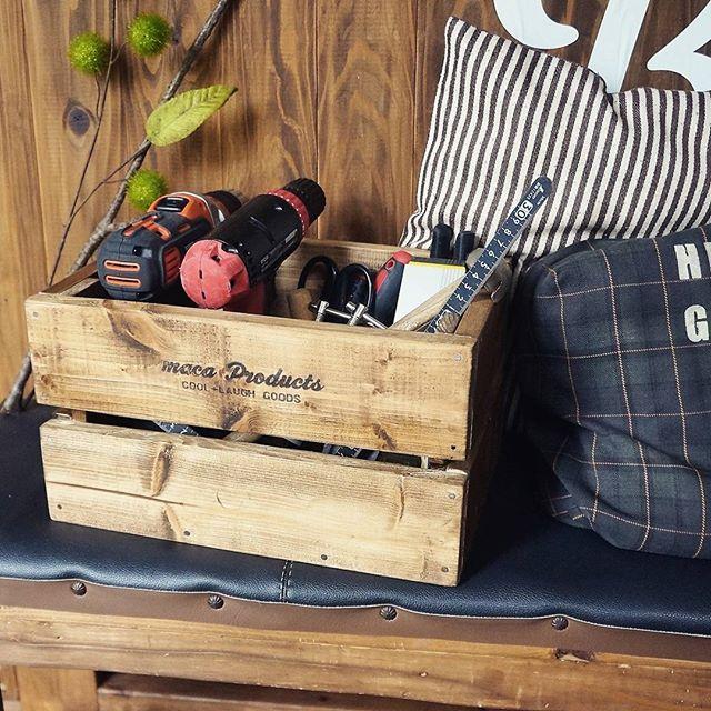 ウッドボックスで小物を収納する2