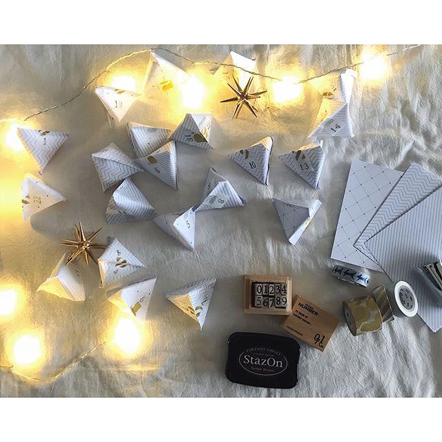 折り紙でテトラパックを作る