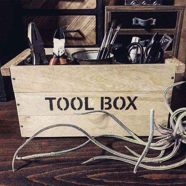ウッドボックスで小物を収納する