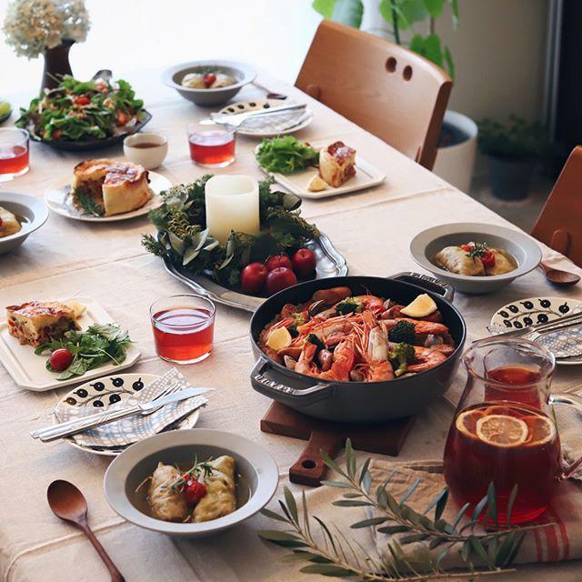 「ホームパーティー」のテーブルシーン&料理特集12