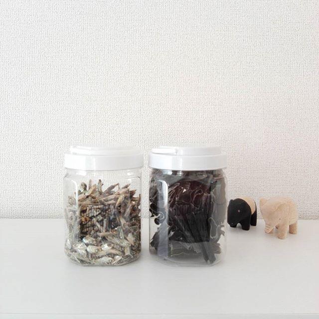 乾物類は保存容器に収納2