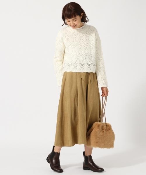 スェードロングスカート