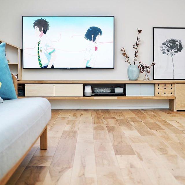 テレビボード 北欧インテリアの設置実例6