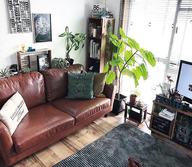 ゆったりとくつろげるソファー