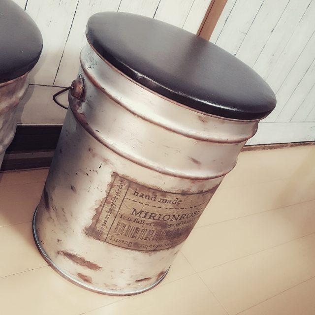 アンティーク風にペール缶をリメイク