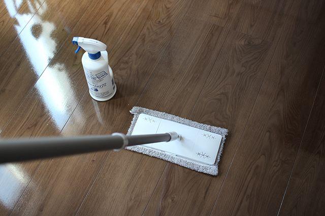 風邪対策 床掃除をしながら除菌
