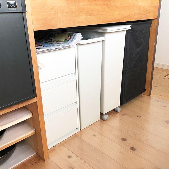 ゴミ箱&ゴミを収納できるラック&ボックスの実例