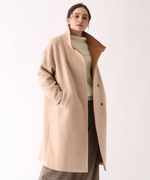 [Couture brooch] 【WEB限定サイズ(L)あり】スタンドカラーコート