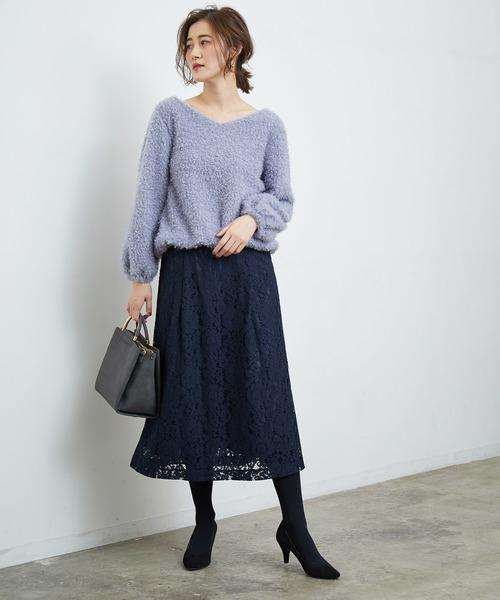 [ROPE' PICNIC] 【WEB限定】レースロングスカート