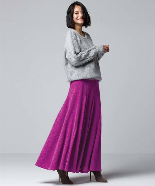 パープル系スカート2