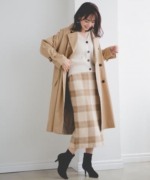 [apart by lowrys] WPツイードチェックタイトスカート