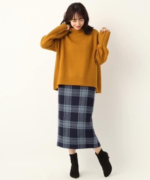 WPツイードチェックタイトスカート