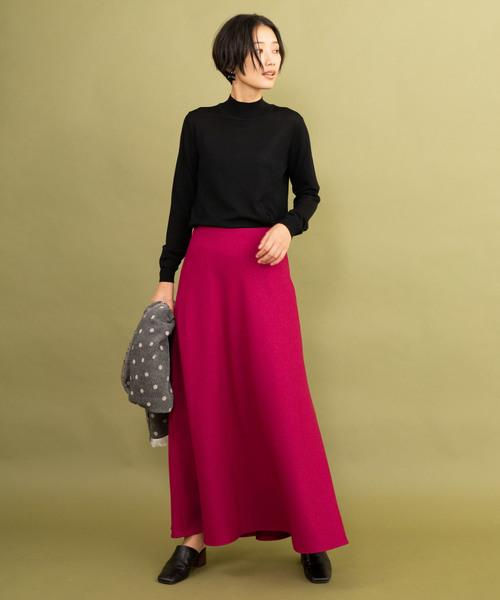 [LANDWARDS] 【Made in JAPAN】バイアスフレアロングスカート