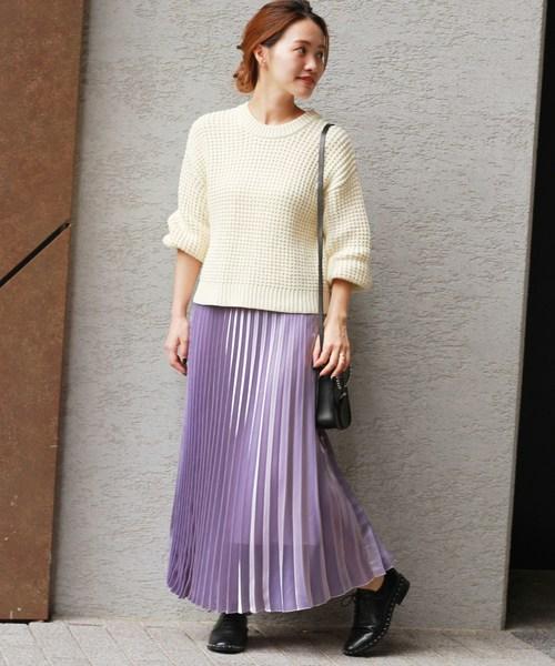 パープル系スカート15