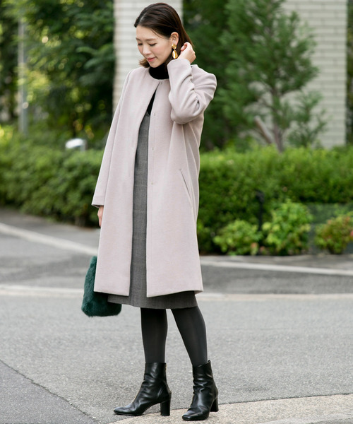 [URBAN RESEARCH ROSSO WOMEN] ノーカラーコート