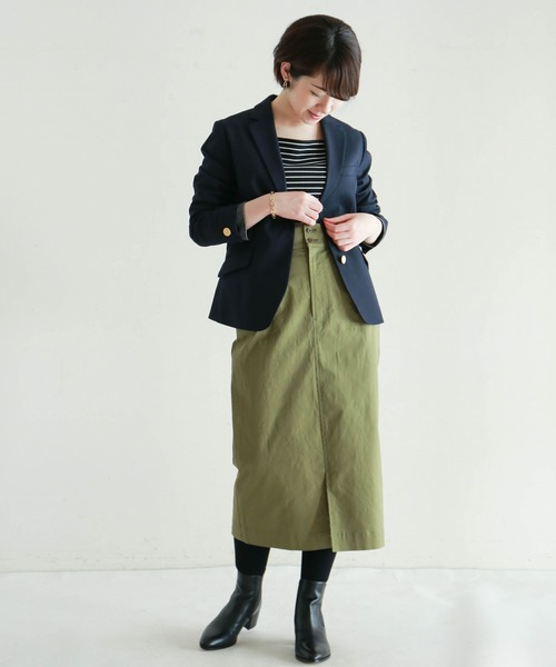 [NOMBRE IMPAIR] ハイカウントギャバストレッチ タックタイトスカート