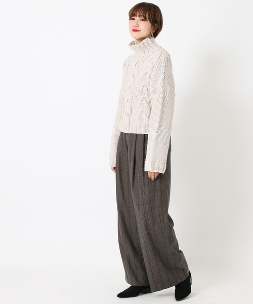 [CITYSHOP] WOOL WIDE PANTS