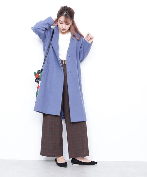 [N.(N. Natural Beauty Basic)] ◆アンゴラビーバーノーカラーコート