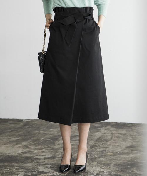 [STYLE BAR] 【STYLEBAR】ギャザーラップスカート《ひざ下丈》